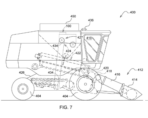 MONITORING DEVICE FOR MONITORING CROP YIELD